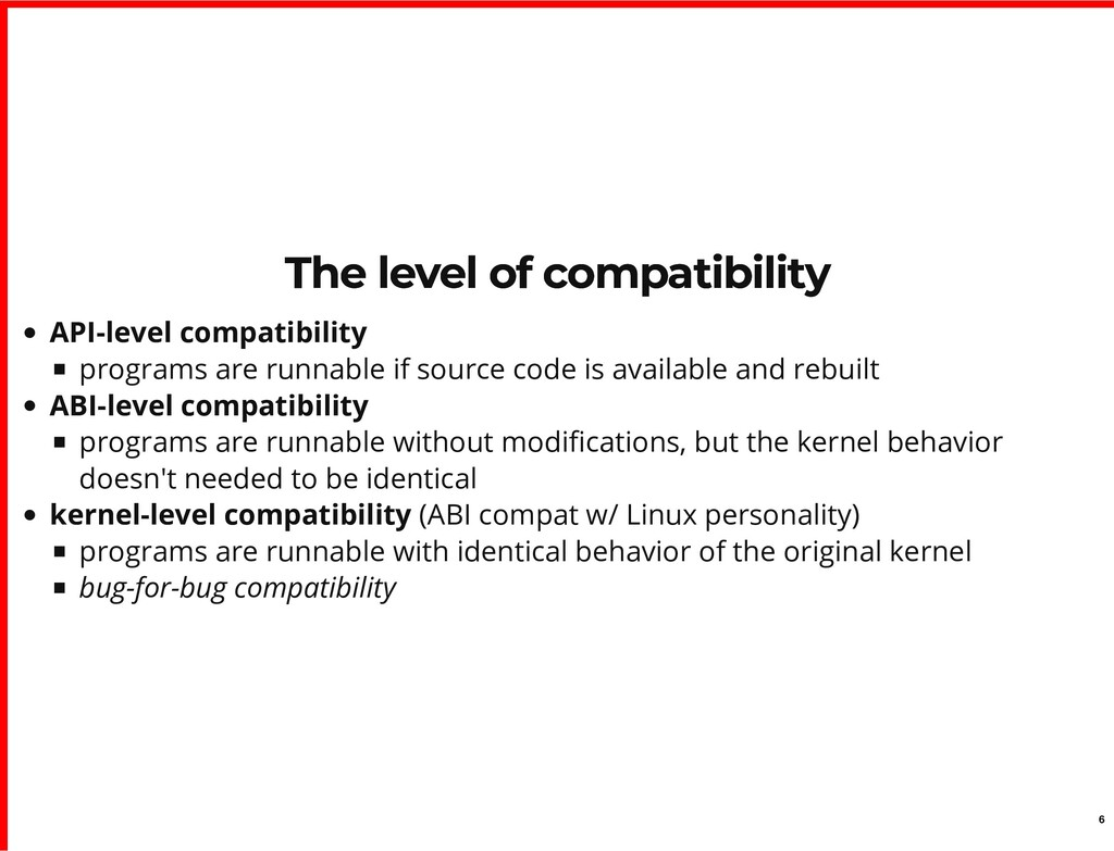 The level of compatibility The level of compati...