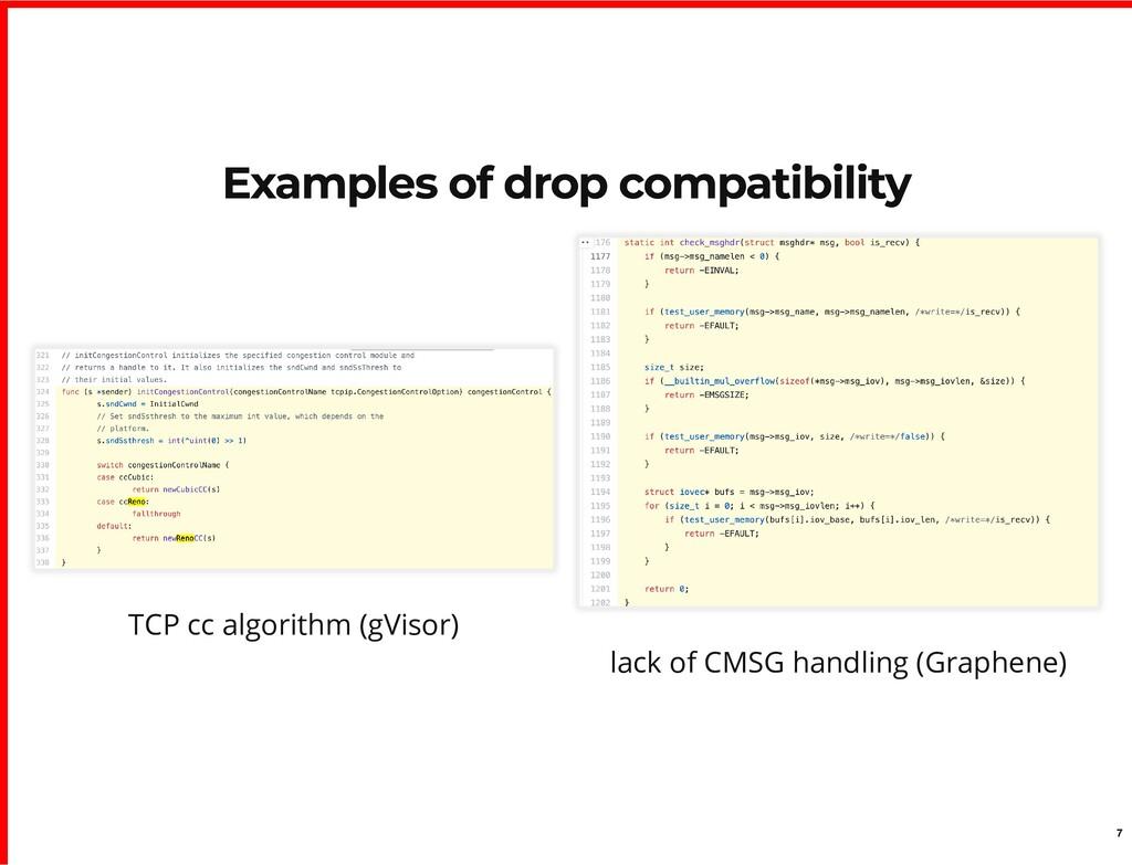 TCP cc algorithm (gVisor) lack of CMSG handling...