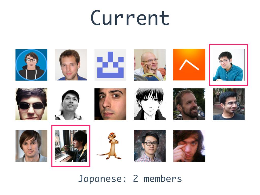 Current Japanese: 2 members