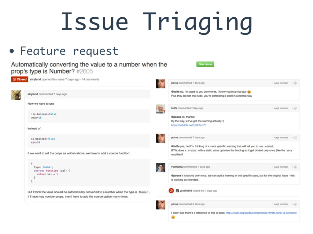 Issue Triaging • Feature request