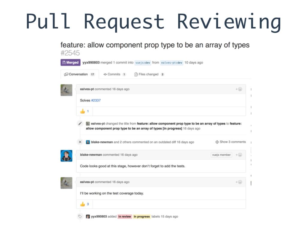 Pull Request Reviewing