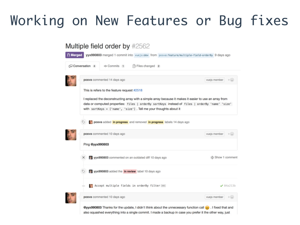 Working on New Features or Bug fixes