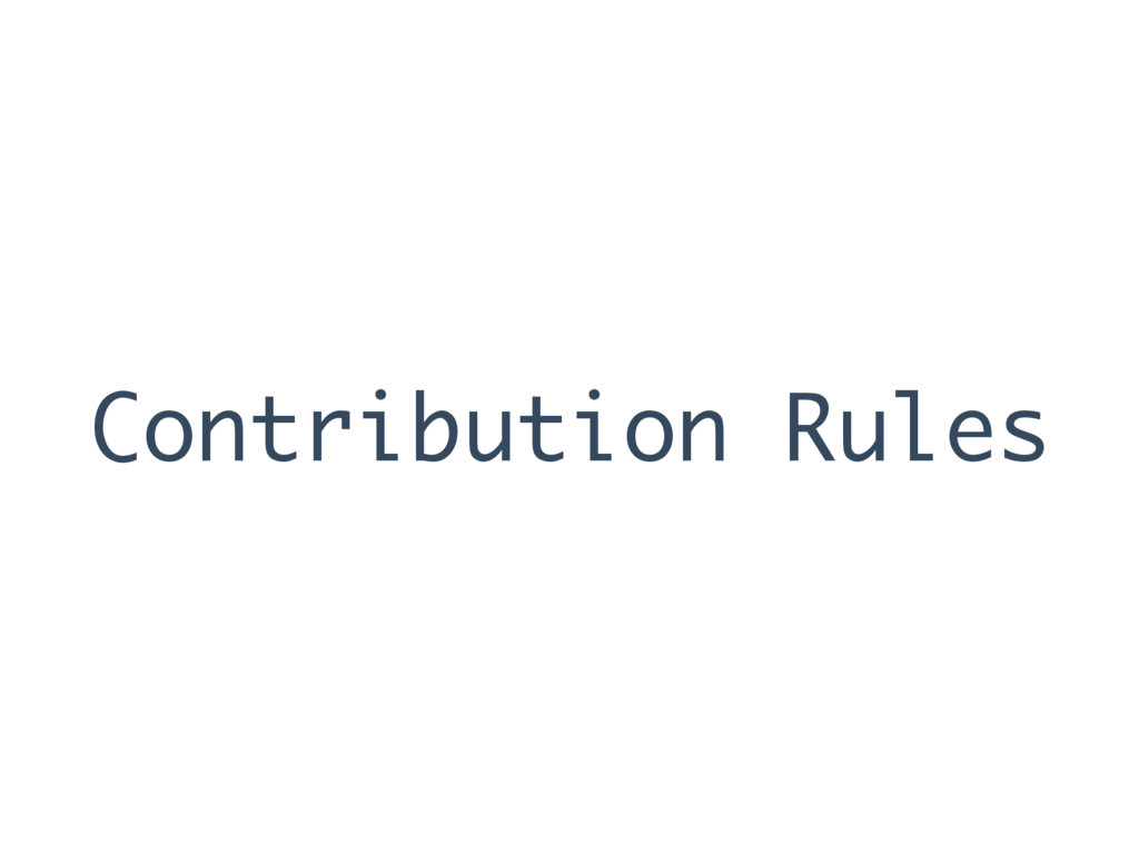 Contribution Rules