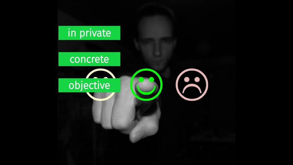 in private concrete objective