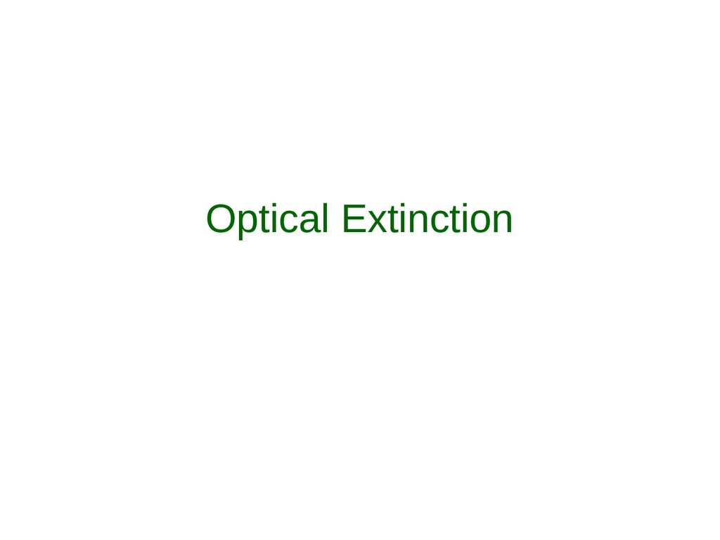 Optical Extinction