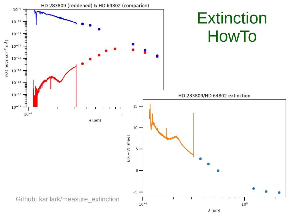 Extinction HowTo Github: karllark/measure_extin...