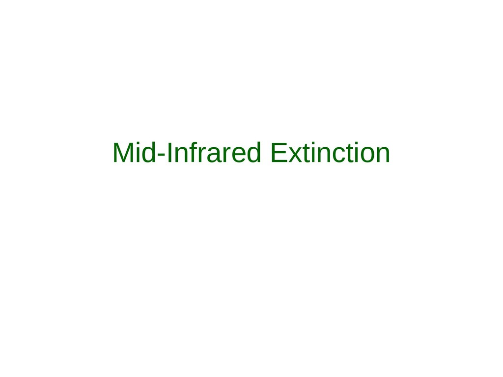 Mid-Infrared Extinction