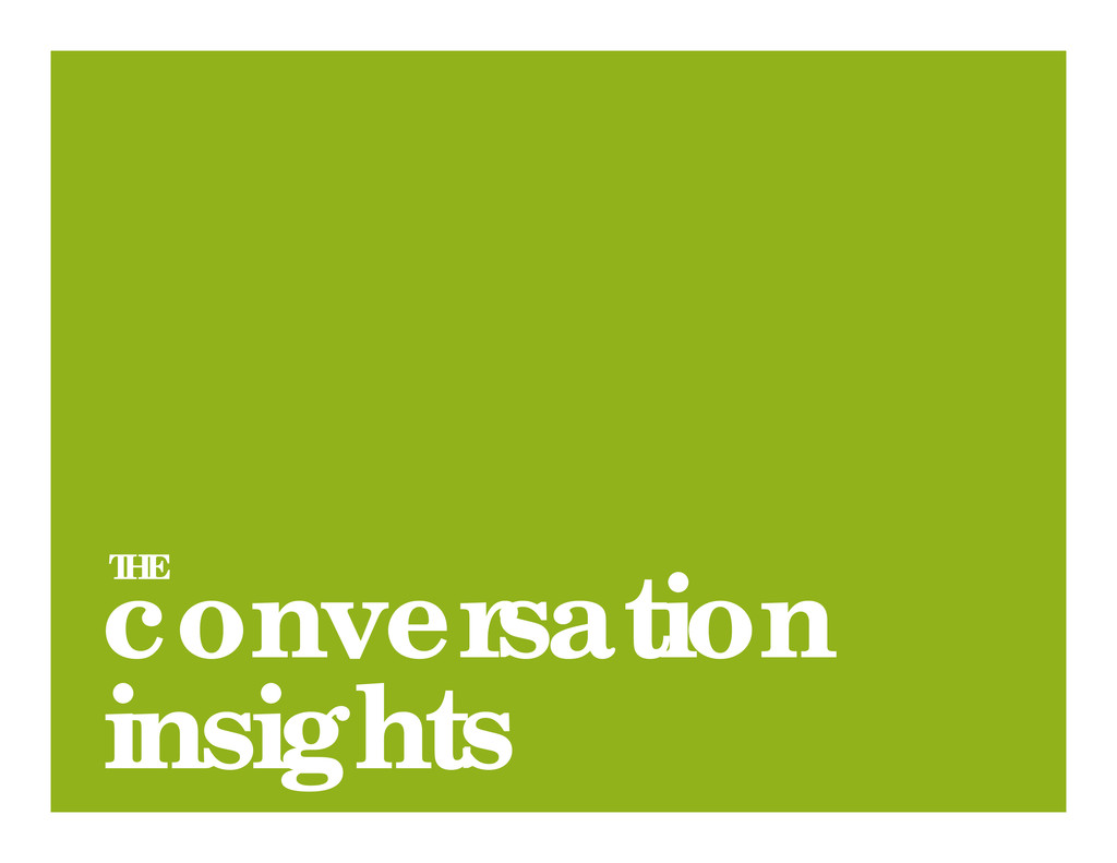 conversation insights THE