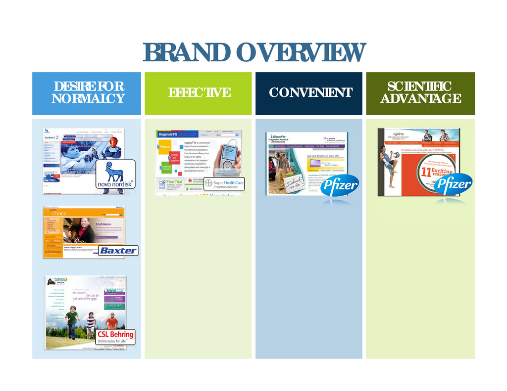 BRAND OVERVIEW DESIRE FOR NORMALCY EFFECTIVE CO...