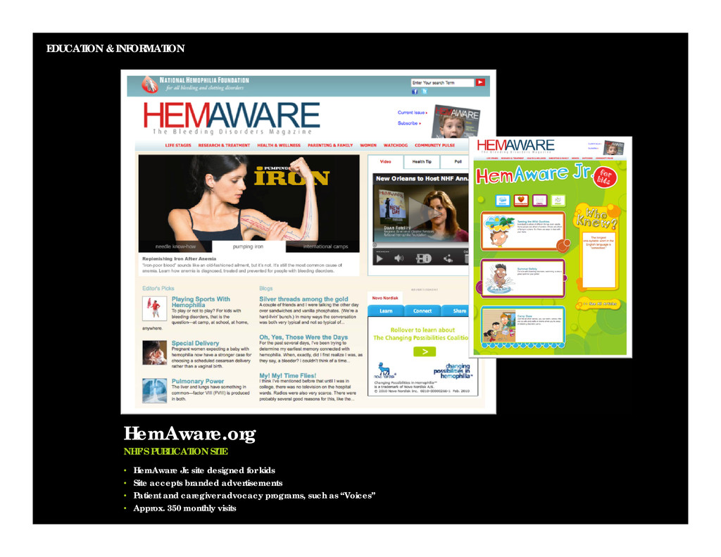EDUCATION & INFORMATION HemAware.org NHF'S PUBL...