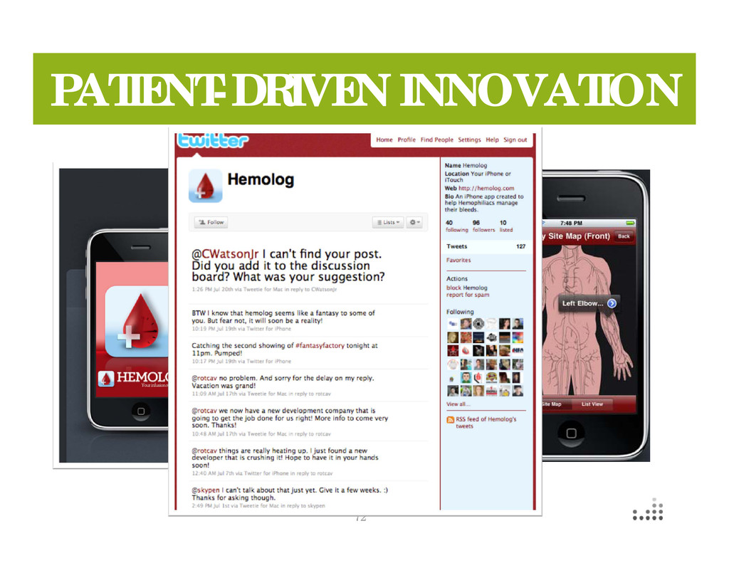 72 PATIENT-DRIVEN INNOVATION