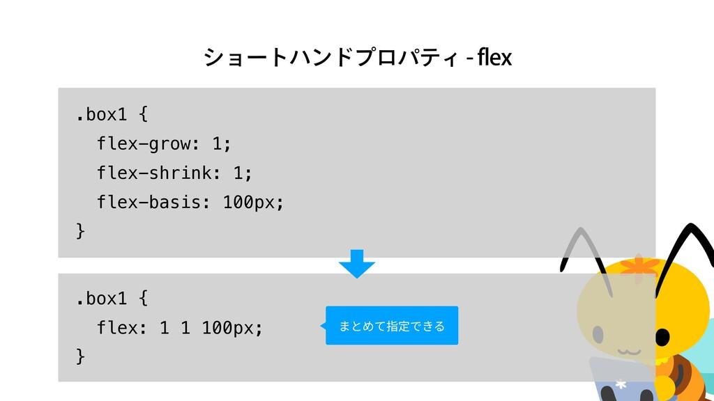 γϣʔτϋϯυϓϩύςΟGMFY .box1 {   flex-grow: 1;   f...
