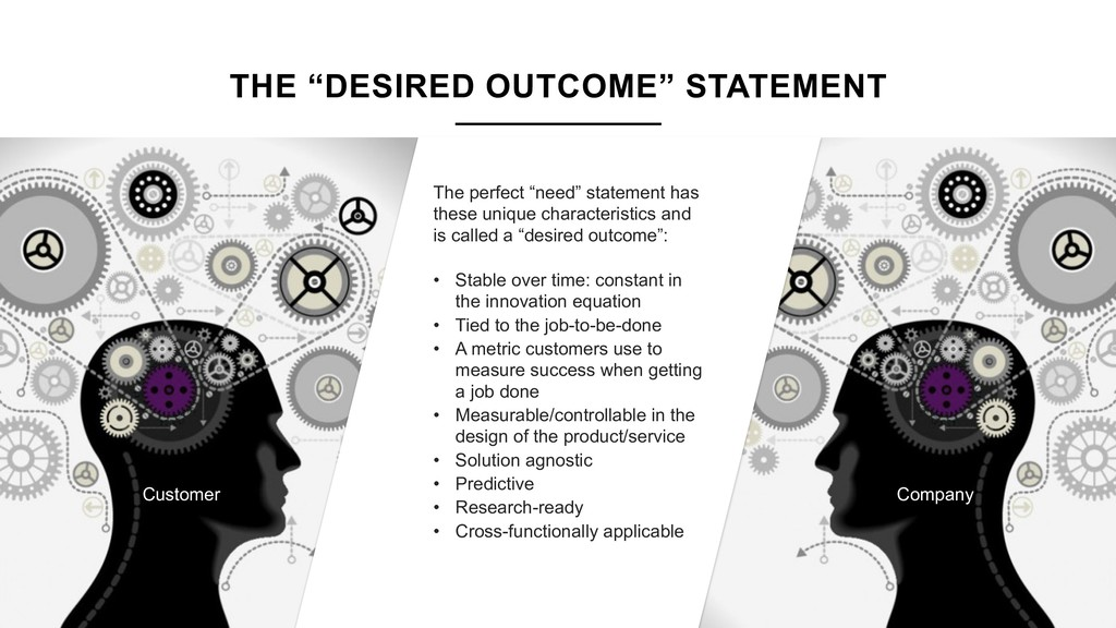 "THE ""DESIRED OUTCOME"" STATEMENT The perfect ""ne..."