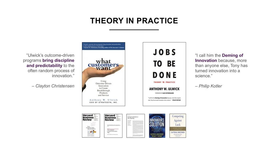 """""""Ulwick's outcome-driven programs bring discipl..."""