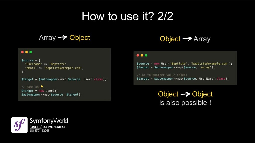 How to use it? 2/2 Array Object Object Array Ob...