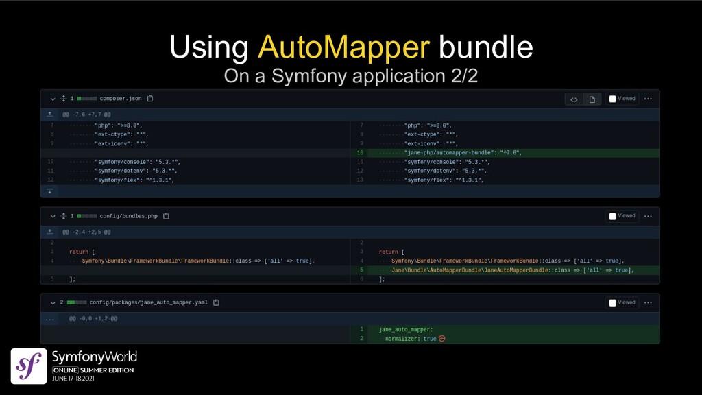 Using AutoMapper bundle On a Symfony applicatio...