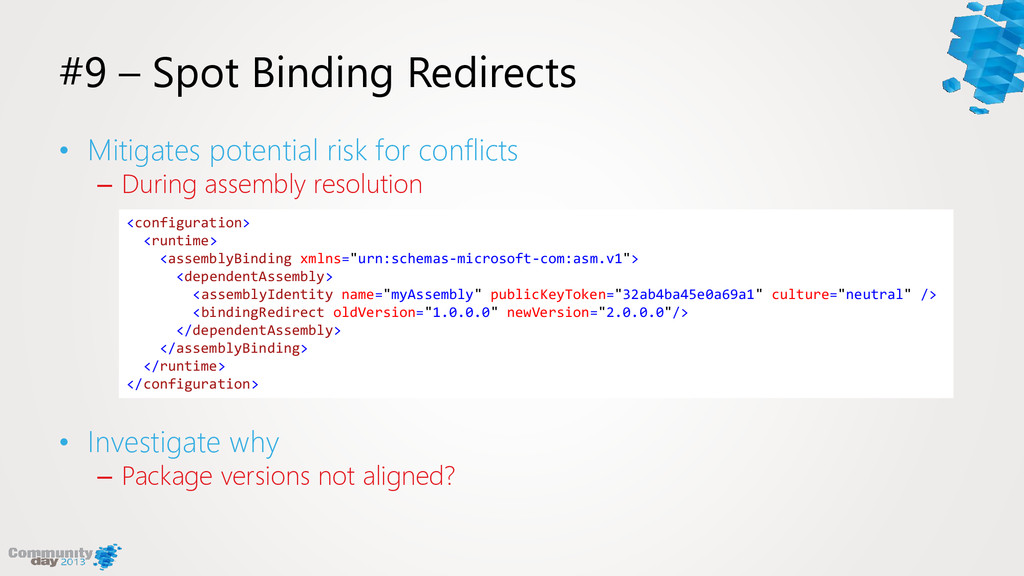 #9 – Spot Binding Redirects • Mitigates potenti...