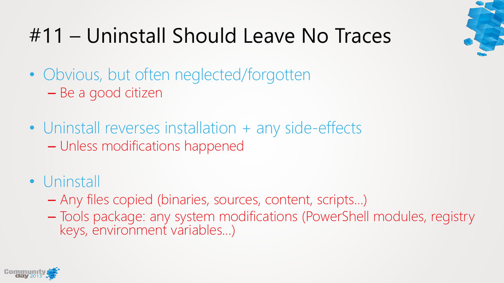 #11 – Uninstall Should Leave No Traces • Obviou...