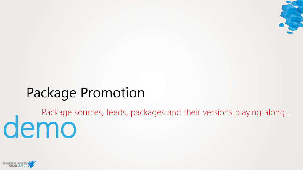 demo Package sources, feeds, packages and their...