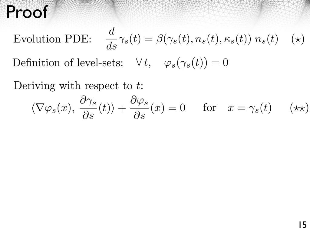 Proof 15 t, ⇥s ( s (t)) = 0 ⇥s (x), ⇤ s ⇤s (t) ...