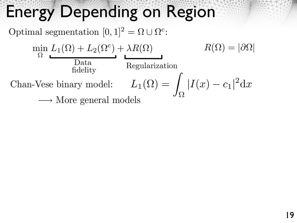 Energy Depending on Region 19 Regularization Da...