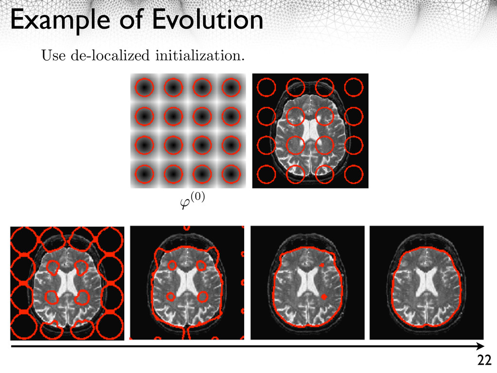 Example of Evolution 22 (0) Use de-localized in...