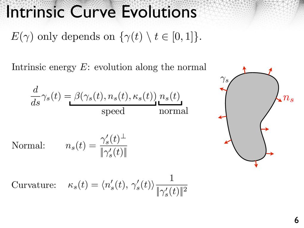 Intrinsic Curve Evolutions 6 Intrinsic energy E...