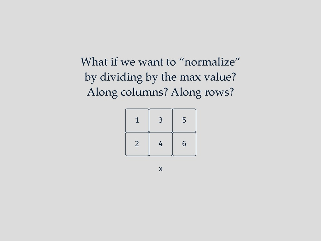 "What if we want to ""normalize"" by dividing by t..."