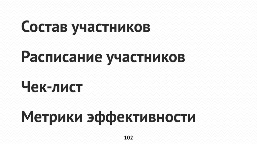 102 Состав участников Расписание участников Чек...