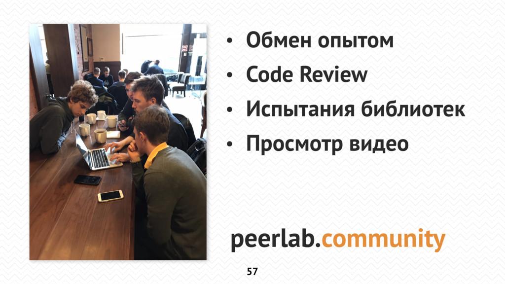 57 • Обмен опытом • Code Review • Испытания биб...