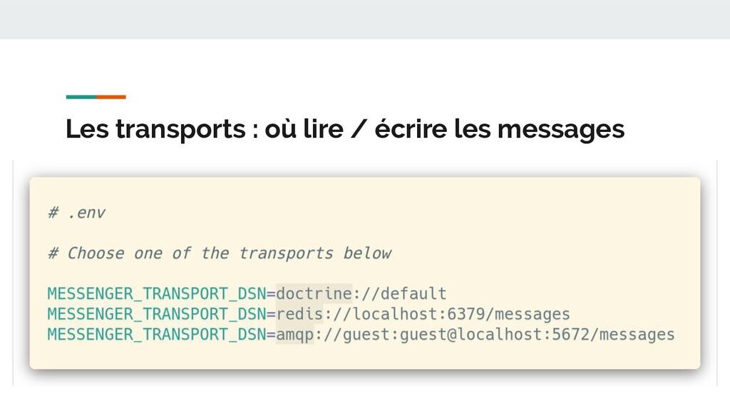 Les transports : où lire / écrire les messages