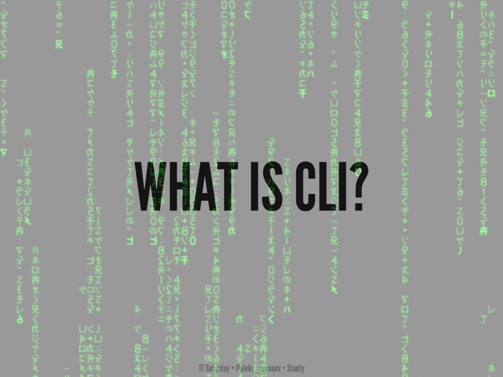 IT Saturday • @aleks_voronov • Stanfy WHAT IS C...