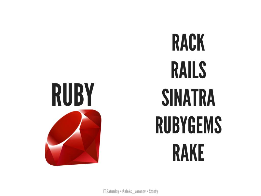 IT Saturday • @aleks_voronov • Stanfy RUBY RACK...