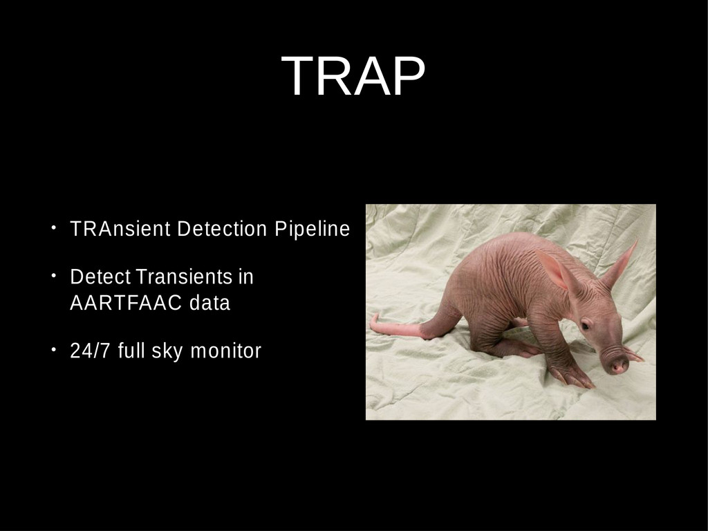 TRAP • TRAnsient Detection Pipeline • Detect Tr...