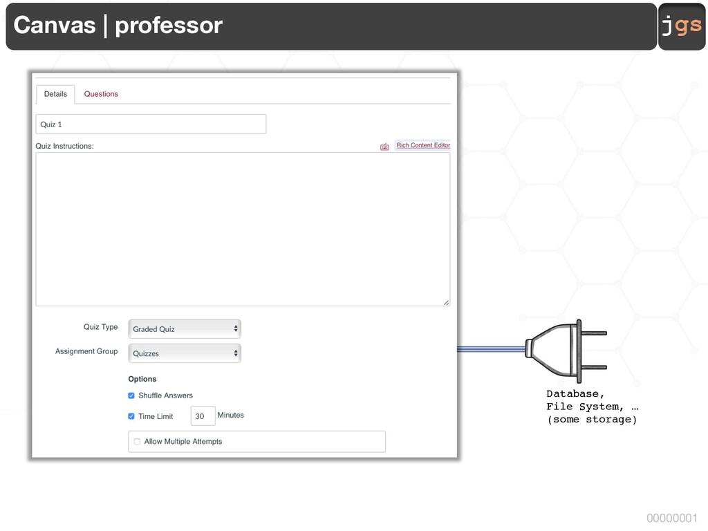 jgs 00000001 Canvas | professor Database, File ...
