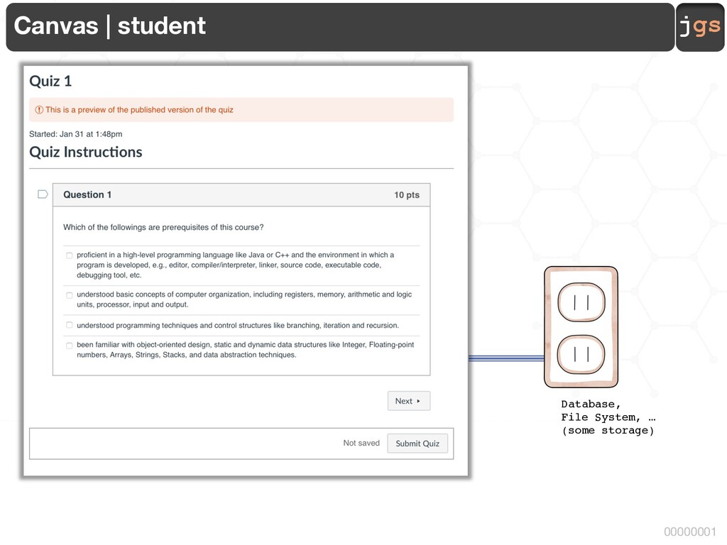 jgs 00000001 Canvas | student Database, File Sy...