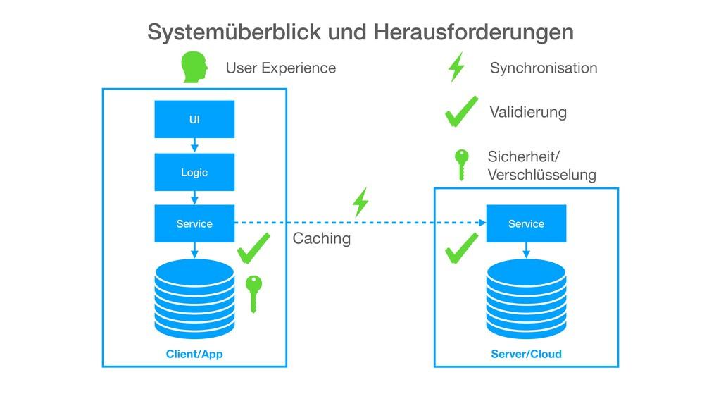 Systemüberblick und Herausforderungen UI Logic ...