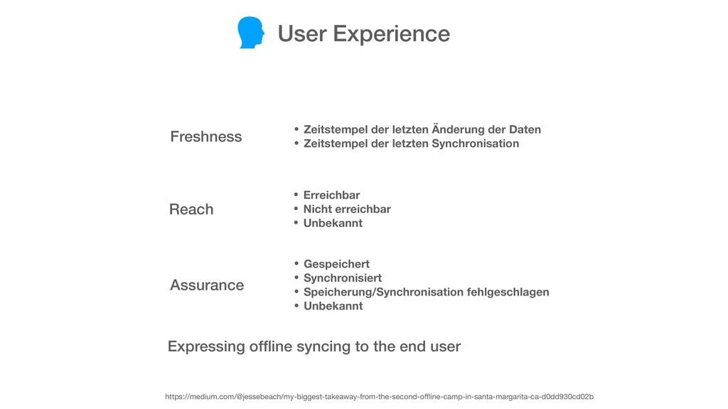 User Experience Freshness Reach Assurance • Zei...