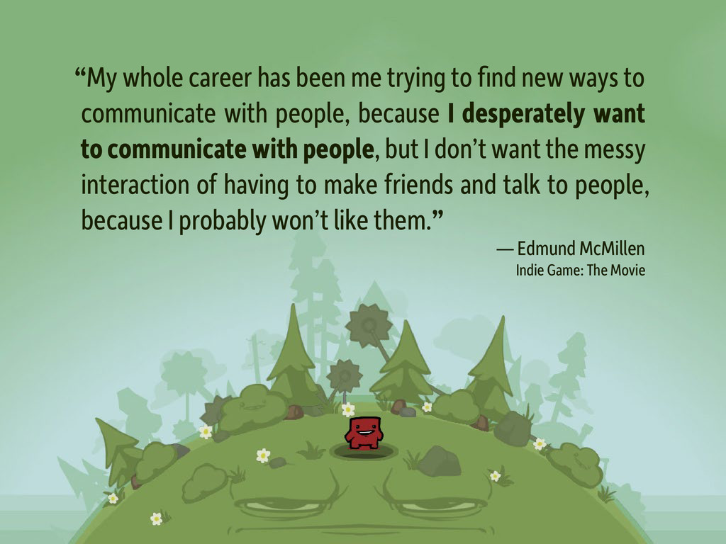 """My whole career has been me trying to find new..."