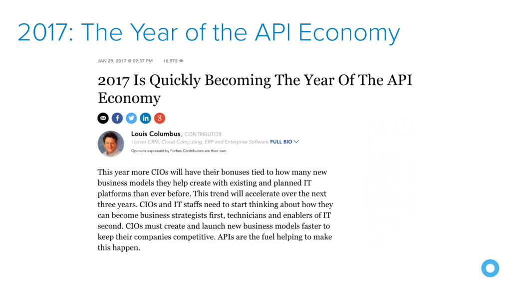 2017: The Year of the API Economy