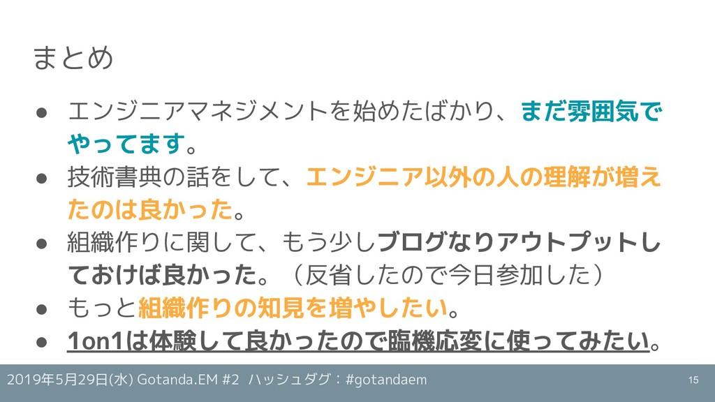 2019年5月29日(水) Gotanda.EM #2 ハッシュダグ:#gotandaem ま...
