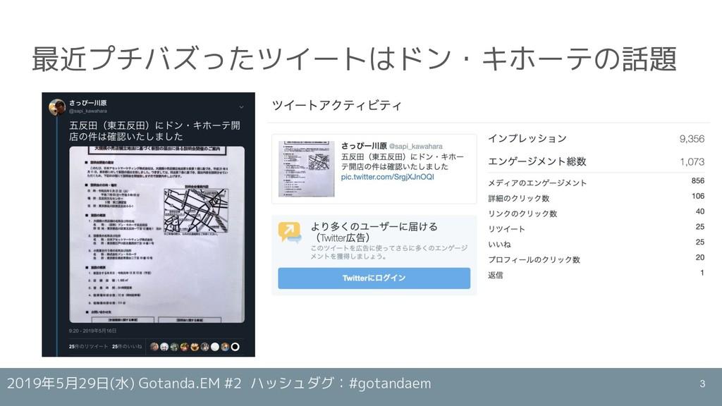 2019年5月29日(水) Gotanda.EM #2 ハッシュダグ:#gotandaem 最...