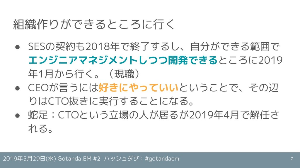 2019年5月29日(水) Gotanda.EM #2 ハッシュダグ:#gotandaem 組...