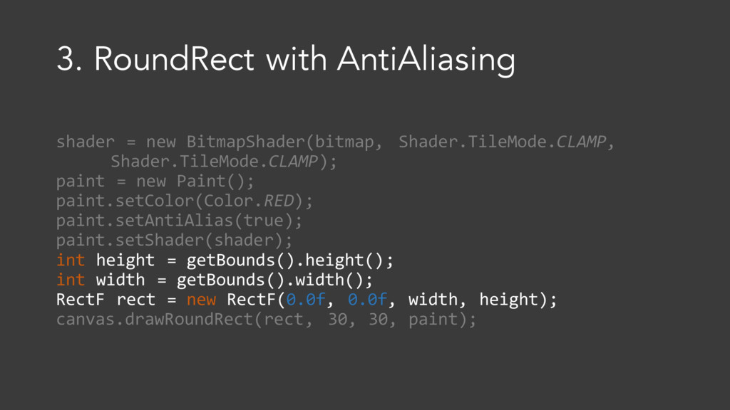3. RoundRect with AntiAliasing shader = new Bit...
