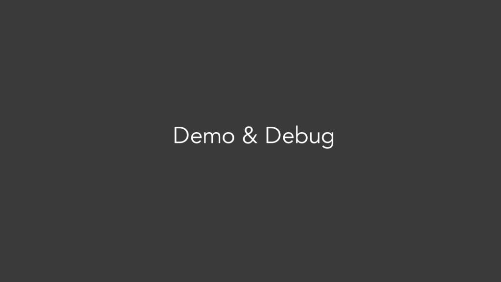 Demo & Debug