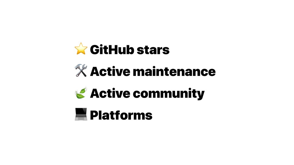 ⭐ GitHub stars  Active maintenance  Active comm...