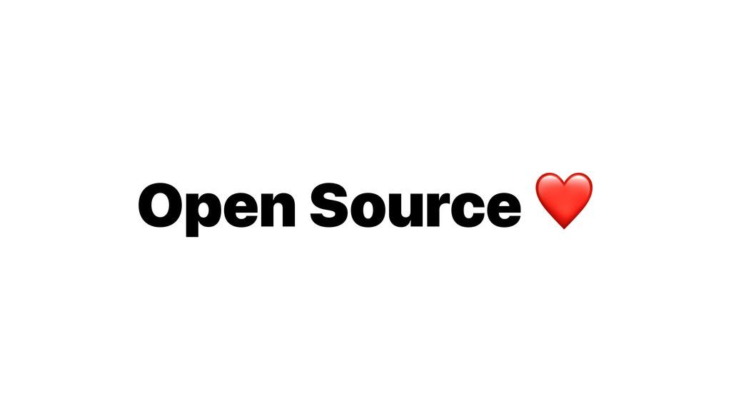 Open Source ❤