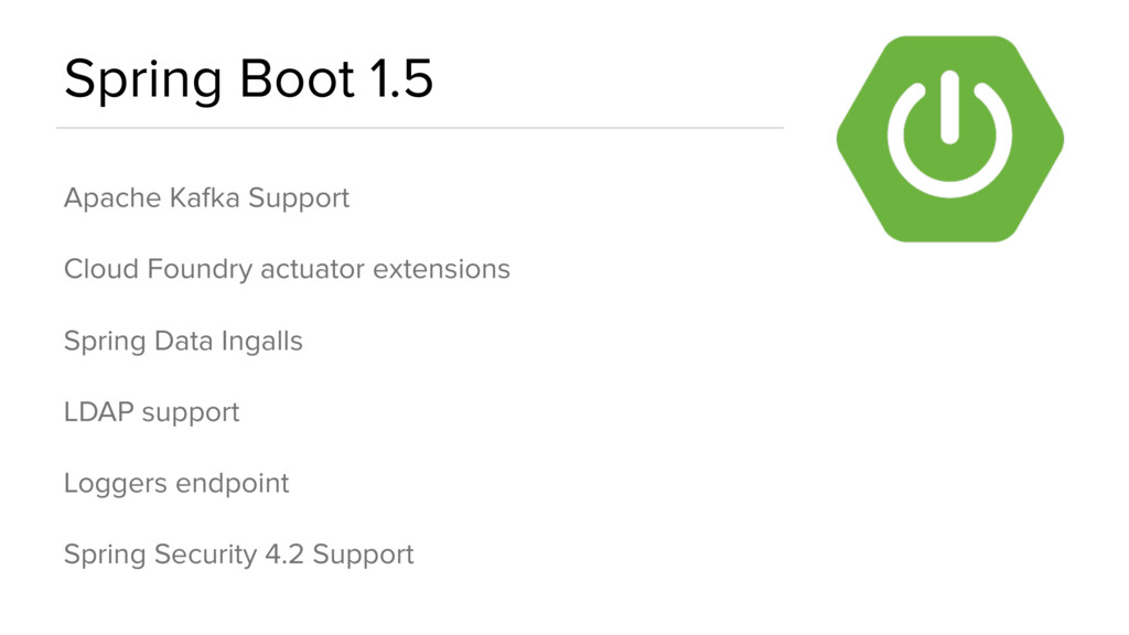 Spring Boot 1.5 Apache Kafka Support Cloud Foun...