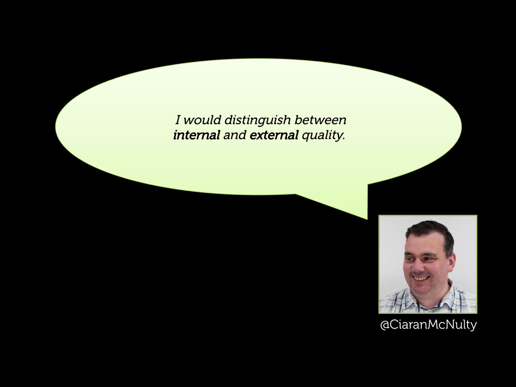 I would distinguish between internal and extern...