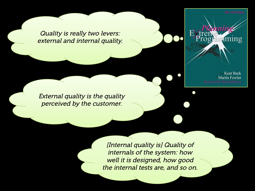 Quality is really two levers: external and inte...